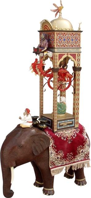 Relógio inventado pelo matemático Al-Jazari, no século 12. Crédito Divulgação