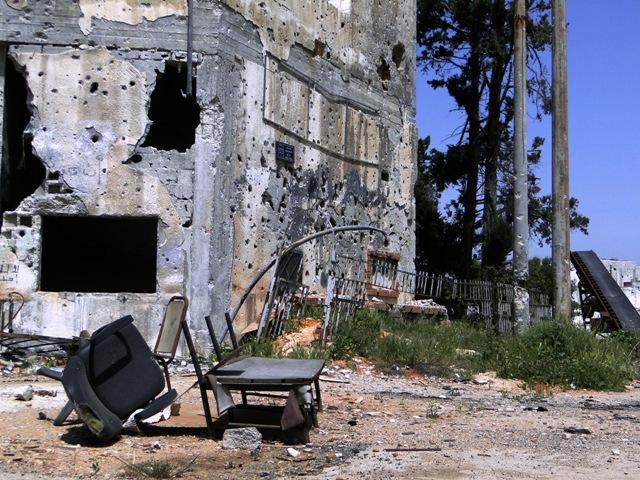Bab Amro, em Homs, destruída pela guerra síria. Crédito Diogo Bercito/Folhapress