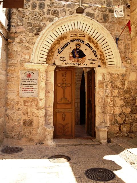 Igreja Siríaca em Jerusalém, com ícone pintado por São Lucas. Crédito Diogo Bercito/Folhapress
