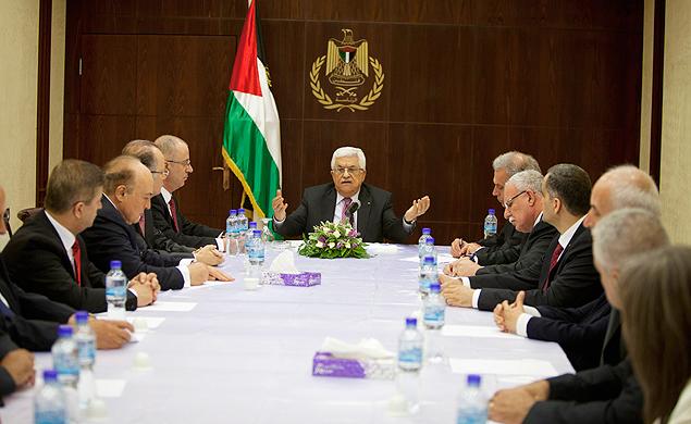 Reunião do gabinete de unidade nacional. Crédito Majdi Mohammed/Reuters