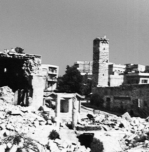 A cidade de Hama, antes de seu massacre. Crédito Biblioteca do Congresso