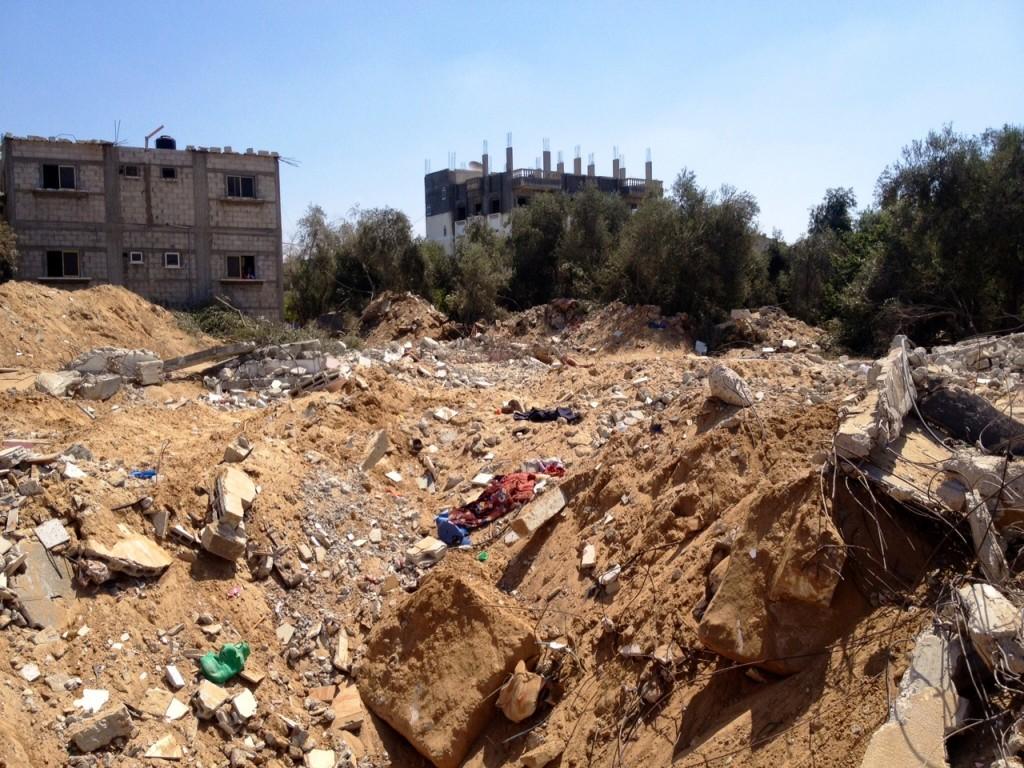 Casa destruída em Khan Yunis, Gaza. Crédito Diogo Bercito/Folhapress