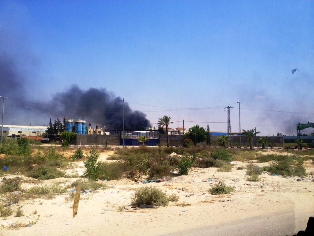Destruição em Beit Lahiya. Crédito Diogo Bercito/Folhapress