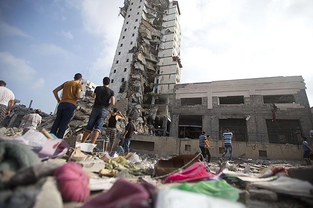 Dano em Gaza após conflito. Crédito Mahmoud Hams/AFP