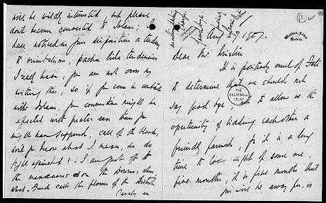 Em carta a Lady Lytton: quem dera eu fosse um pachá. Crédito Sir Winston Churchill Archive Trust