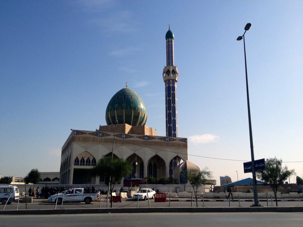 Mesquita em Bagdá. Crédito Diogo Bercito/Folhapress