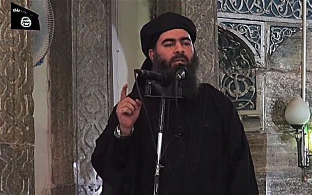 Abu Bakr al-Baghdadi em seu discurso de Mosul, julho de 2014. Crédito Reprodução