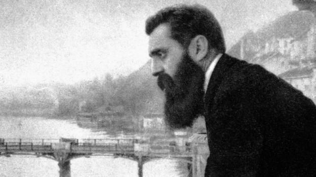 Theodor Herzl, fotografado na Suíça em 1897.