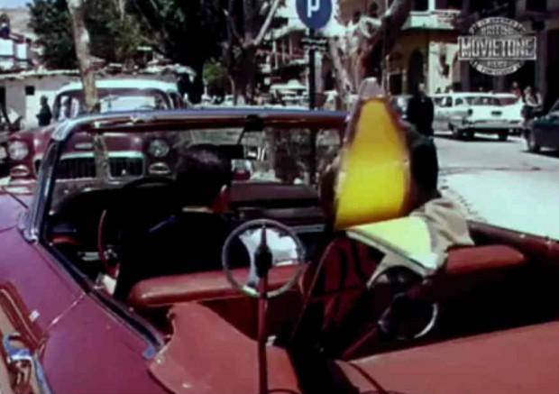 Cena de vídeo histórico de Beirute nos anos 1960. Crédito Reprodução