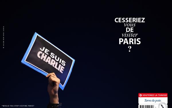 Imagem da campanha pelo turismo à Tunísia. Crédito Reprodução