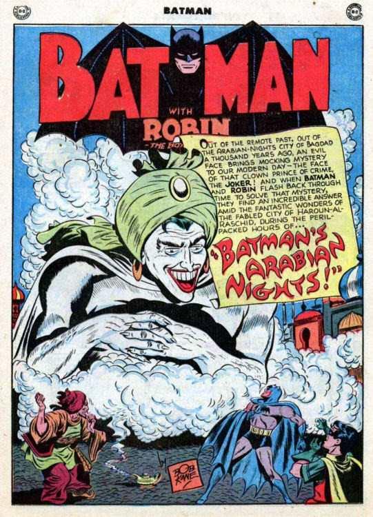 Gibi em que Batman defende o califado de Bagdá. Crédito Reprodução