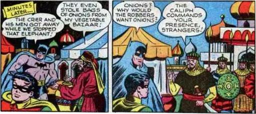 Trecho de gibi do Batman de 1948. Crédito Reprodução