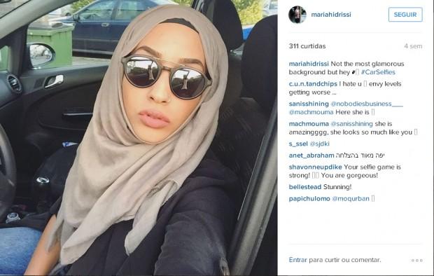 Instagram da modelo Mariah Idrissi. Crédito Reprodução