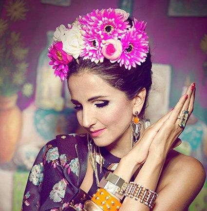 A cantora libanesa Tania Saleh. Crédito Divulgação