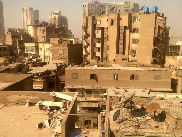 Construções no centro do Cairo. Crédito Diogo Bercito/Folhapress