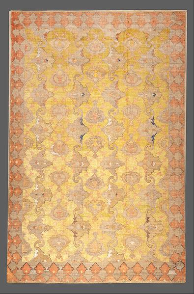 Tapete persa do século 17, no Museu de Arte Islâmica do Qatar. Crédito Reprodução