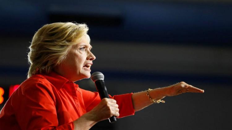 A candidata democrata Hillary Clinton. Crédito Aaron Bernstein/Reuters