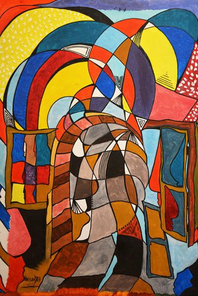 """Obra de Hassan al-Khatib, o """"pintor de Idomeni"""". Crédito Reprodução"""